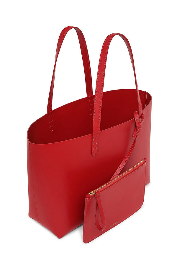 Red Calf Leather Tote with Detachable Wallet by Mansur Gavriel