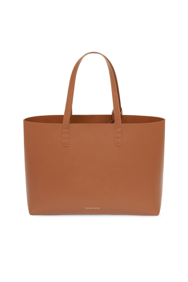 Saddle Calf Leather Tote with Detachable Wallet by Mansur Gavriel