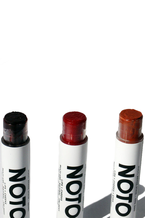 Lip and cheek stain stick trio set from NOTO Botanics