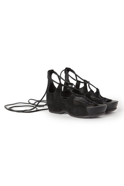 Suede Lace Up Sandals