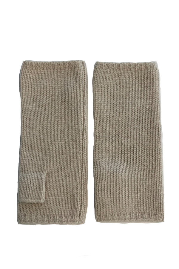 Short Fingerless Cashmere Gloves