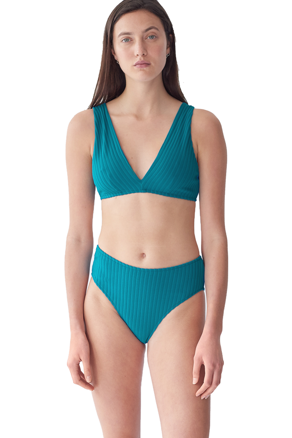 Ulla ribbed Bikini Bottom from Araks in Caspian teal blue