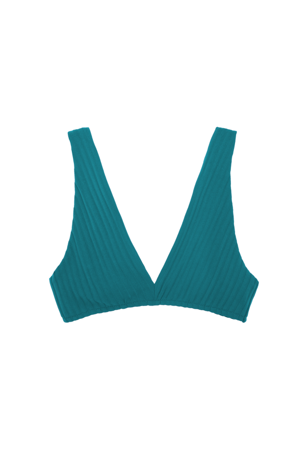 Ulla Bikini Top from Araks in Caspian Rib teal blue