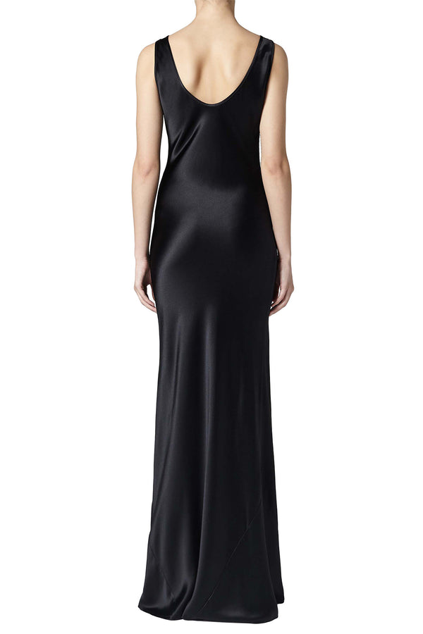 Black silk dress by Galvan London