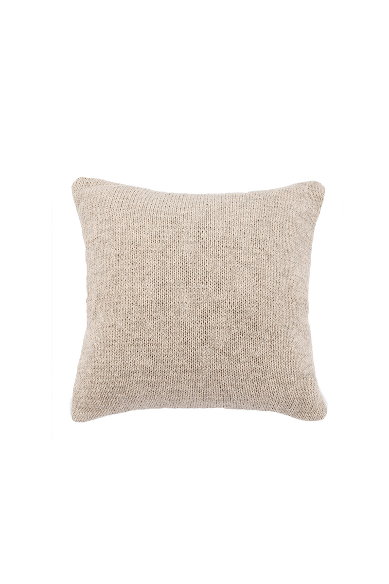 Alhambra Hand Knit Cotton Pillow by Sien + Co