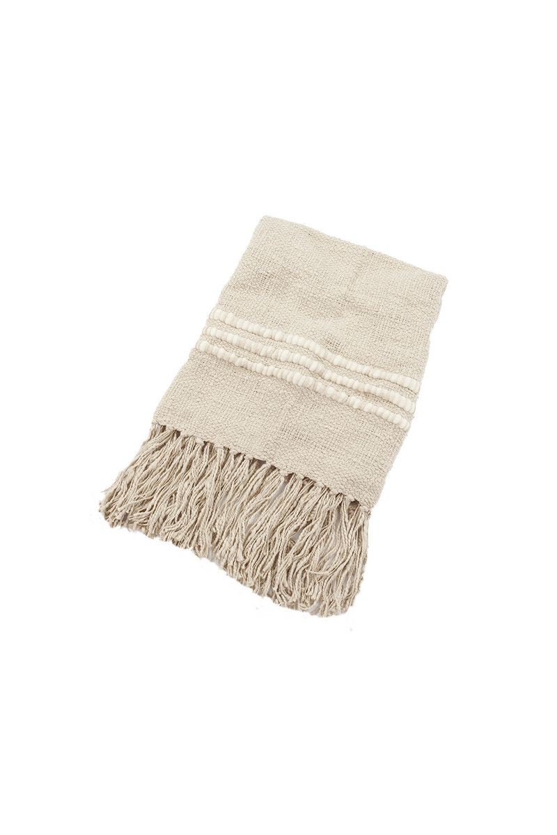 Alma Handwoven Cotton Throw in Cement by Sien + Co