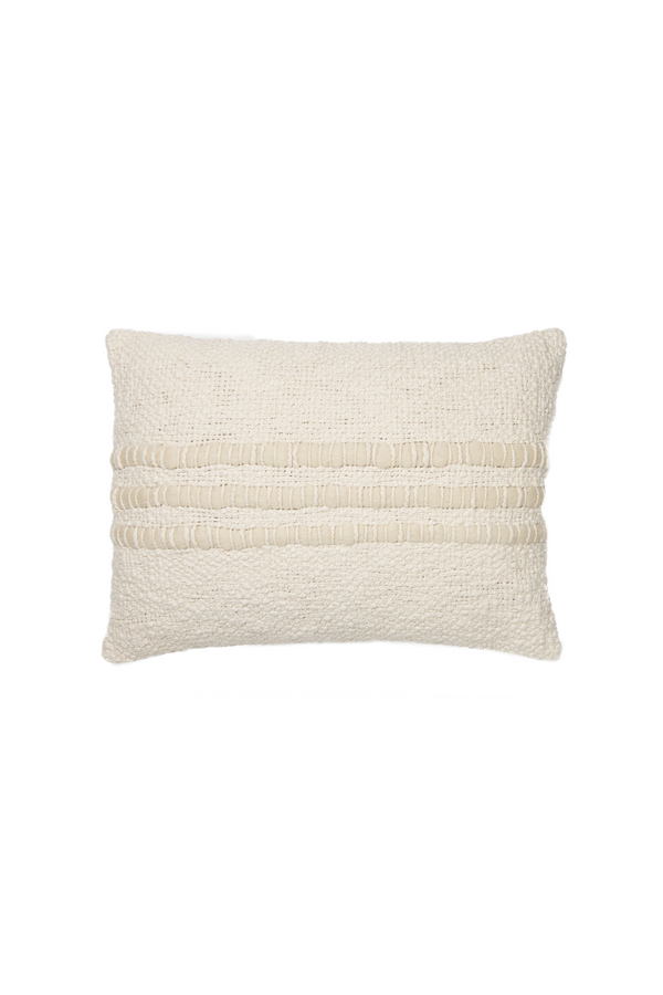 Alma Handwoven Cotton Pillow in Ivory by Sien + Co