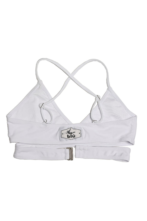 The Blú Cross Kini in White | Blú Swimwear
