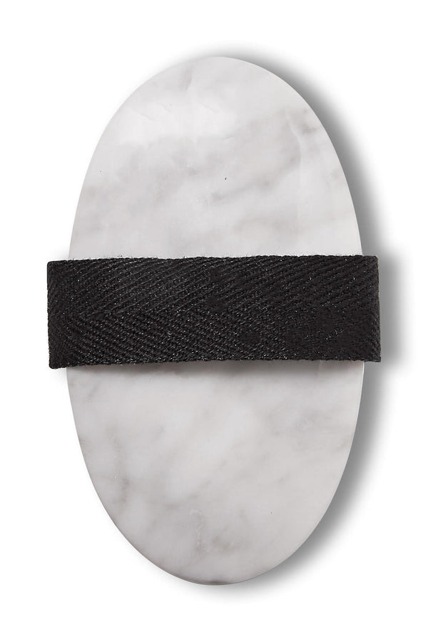 Body Brush in White Marble | Gilded