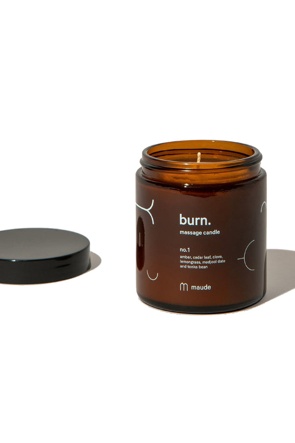 Vegan and cruelty free skin softening massage candle from Maude