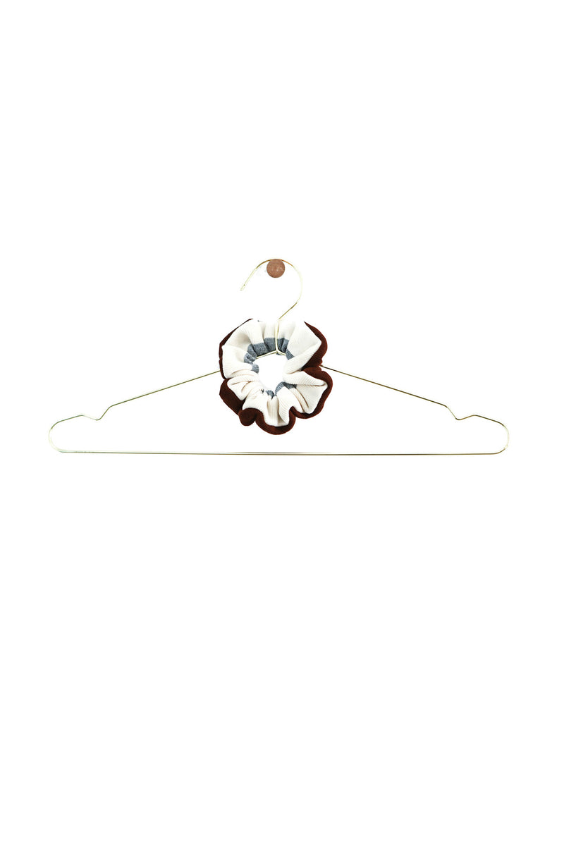 Tri Chiquita brown and white scrunchie by DONNI