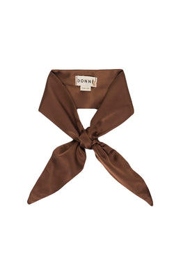 Brown Coco silk scarf by DONNI