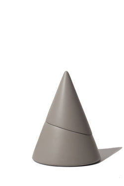 Gray concrete cone incense burner from Sesstra