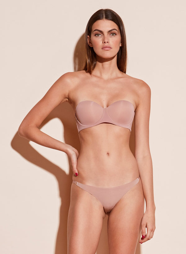 Tan Molded Convertible Strapless Bra by Fleur du Mal