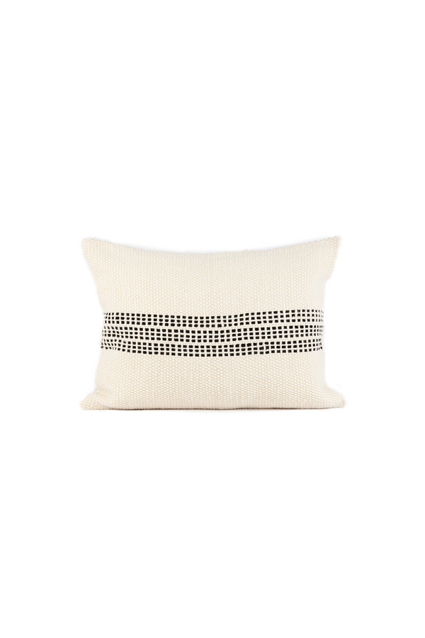 Shop Cuero Handwoven Leather Pillow by Sien + Co