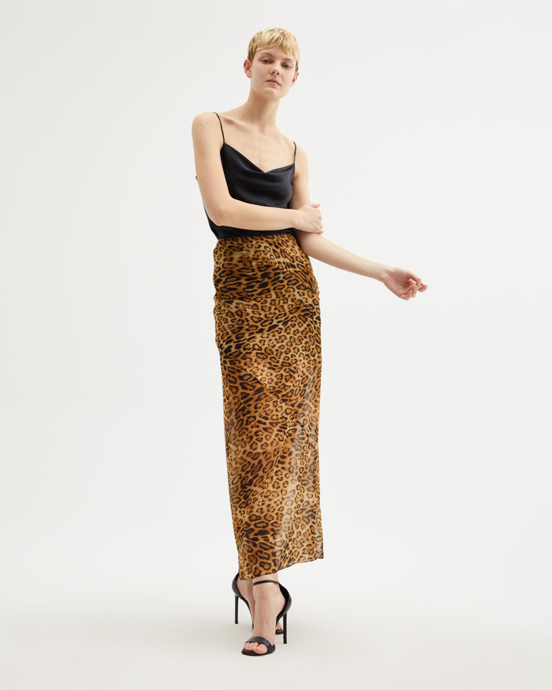 Ella Skirt in Ginger Leopard by Nili Lotan