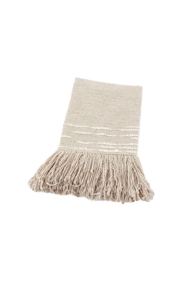 Espuma Handwoven Wool Throw in Grey by Sien + Co