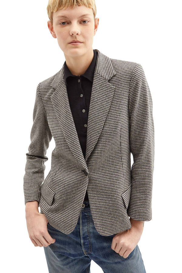 Black and white wool jacket from Nili Lotan