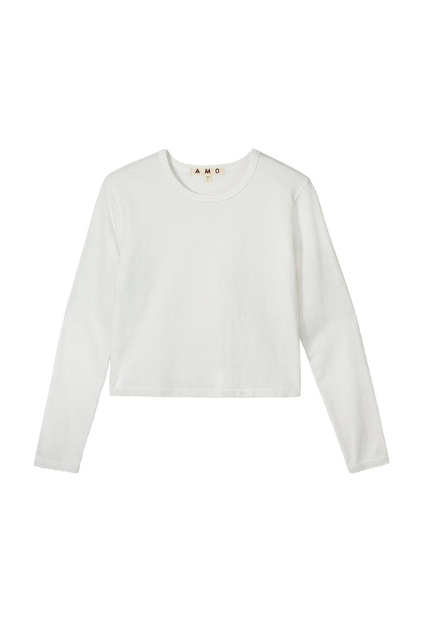 Scallop Long-Sleeve Babe Tee