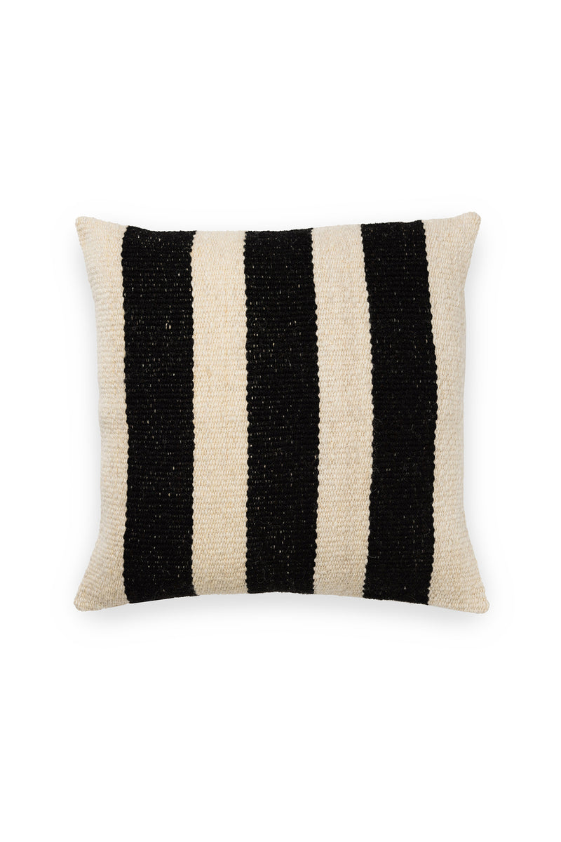 Joya Handwoven Pillow in Black and Ivory by Sien + Co