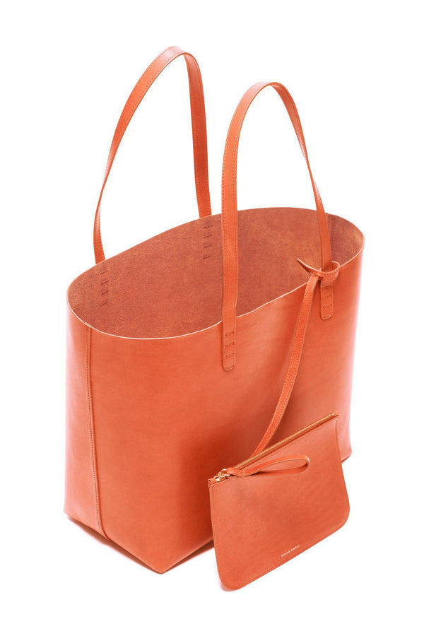 Raw Large Leather Tote with Detachable Wallet by Mansur Gavriel