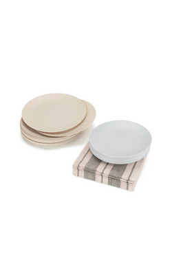 The Entertaining Essentials Set neutral plates and napkins by l'entramise