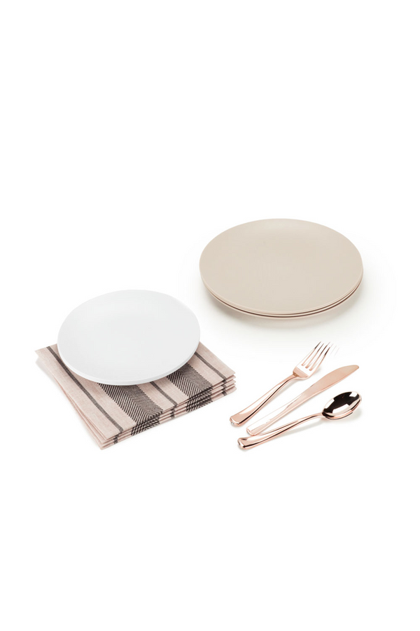 The Dinner Party Set in neutral and rose gold by L'entramise