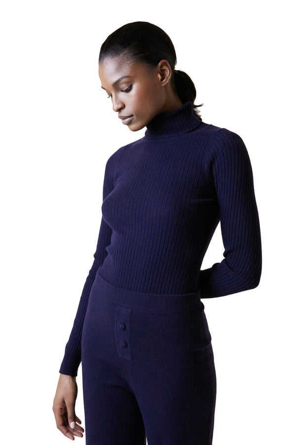 Knit Turtleneck in Poseidon by Live The Process