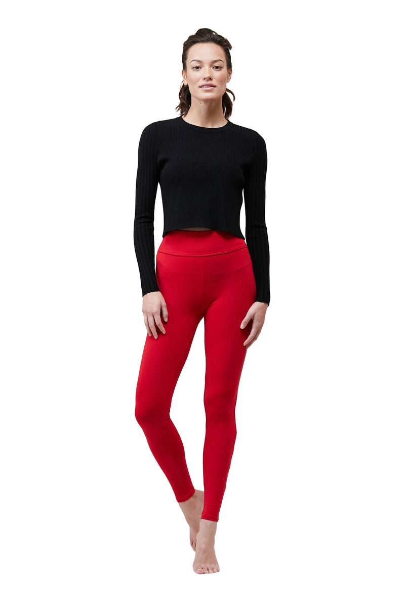 Tango Red Tuxedo Legging by Live The Process