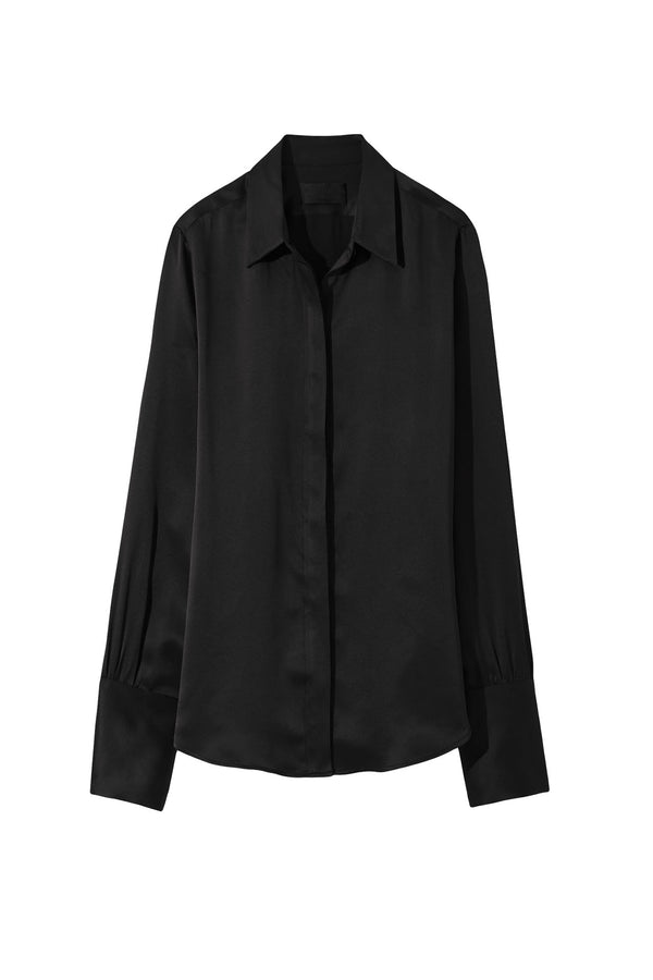 Black silk blouse from Nili Lotan
