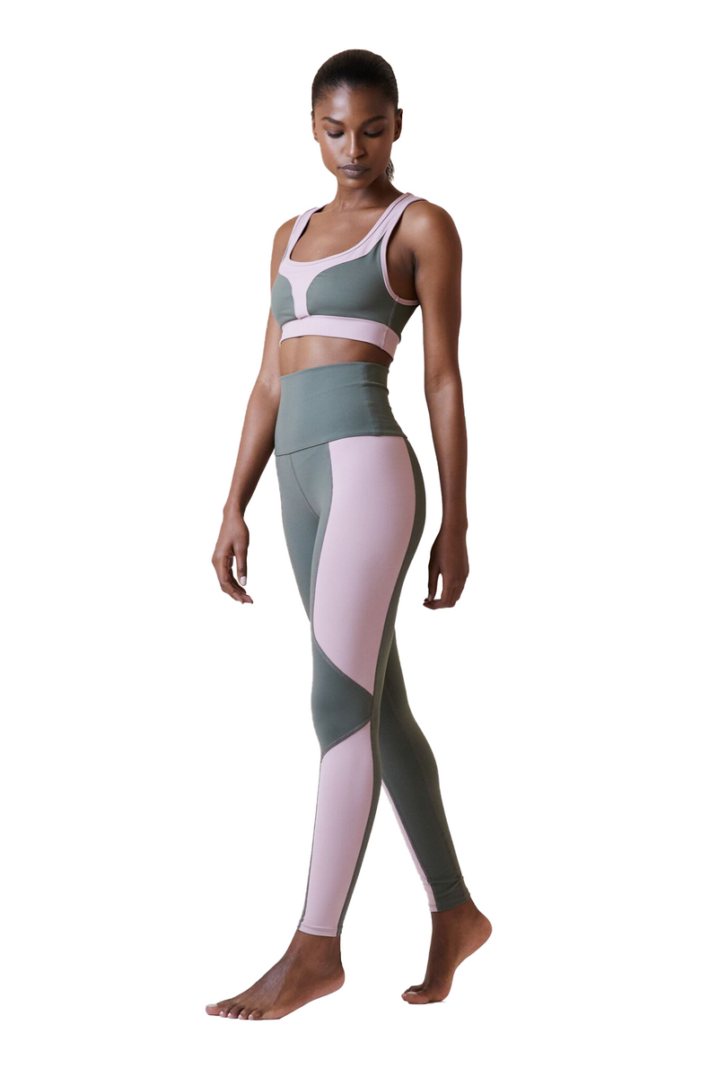 Geometric Legging in Duffle Bag Mauve by Live The Process