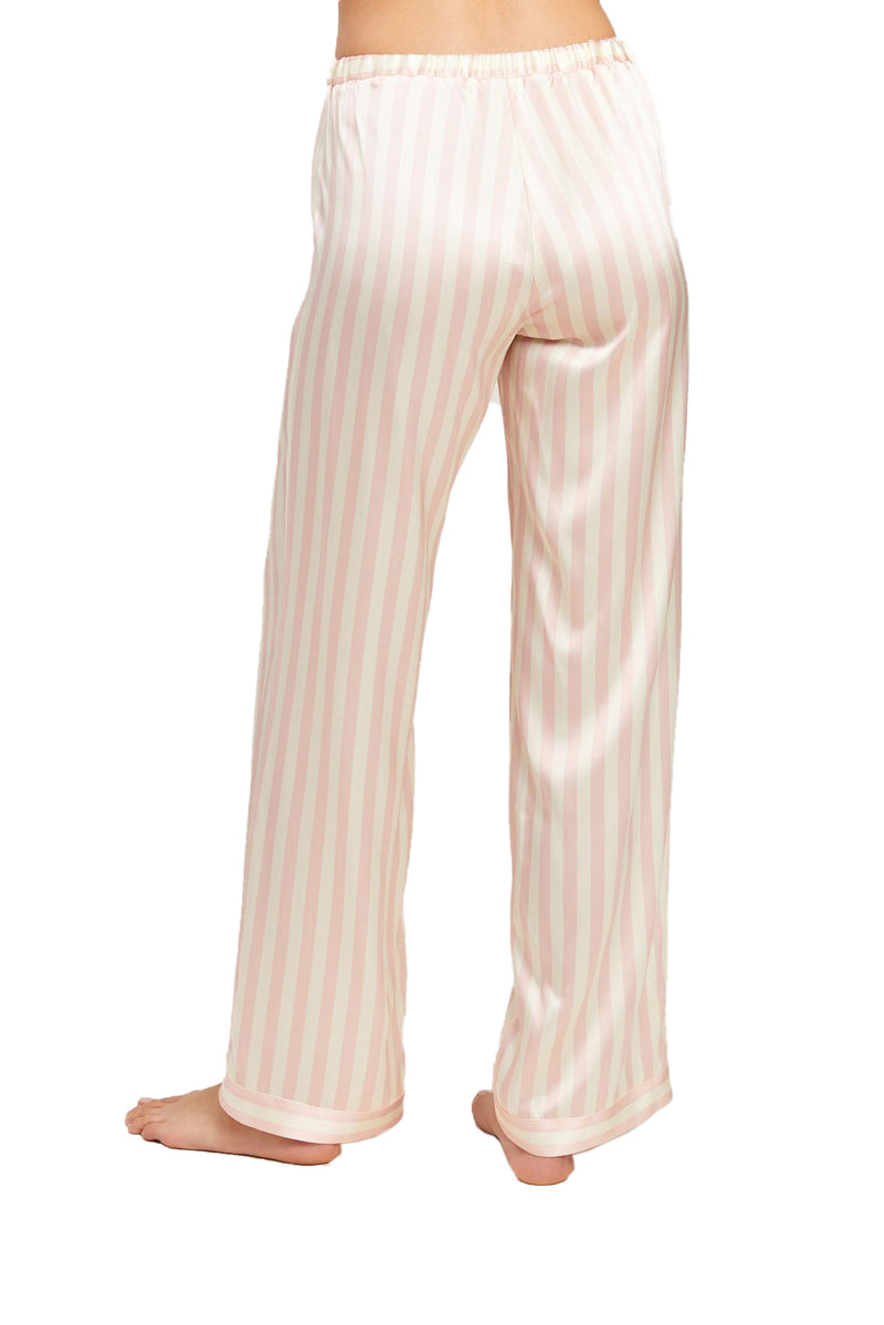 Pink and white striped Chantal Pant by Morgan Lane