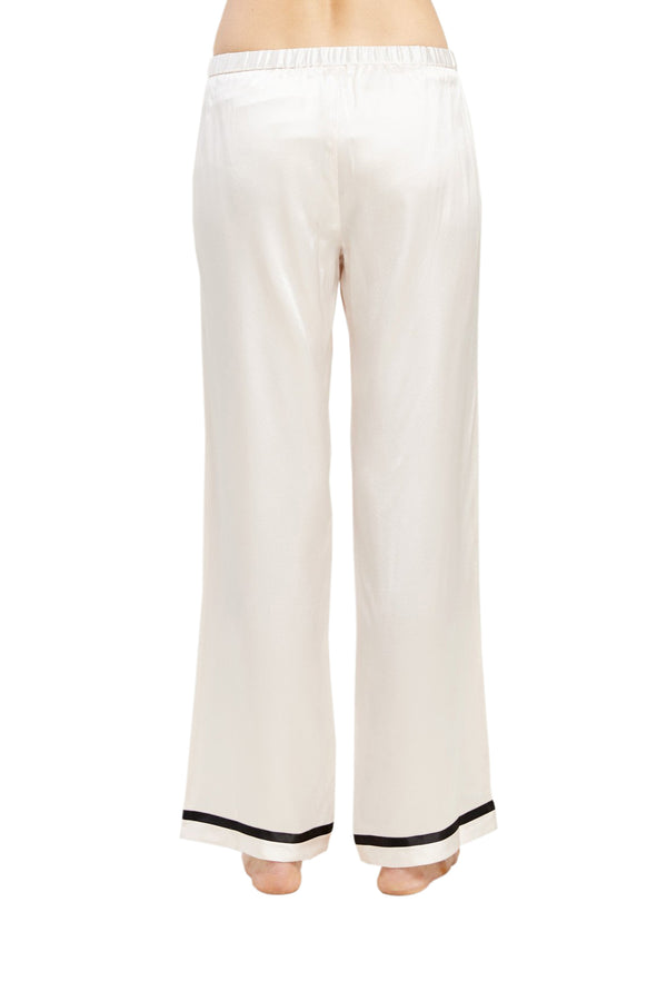 White Chantal Pant with black detailing by Morgan Lane