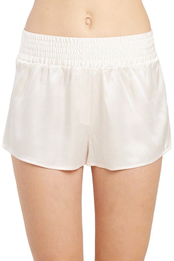 Corey silk pajama Short in Vanilla by Morgan Lane