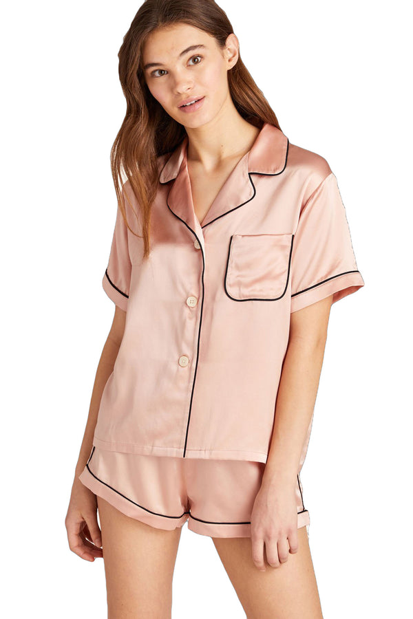 Fiona pajama Set in Rose Smoke by Morgan Lane