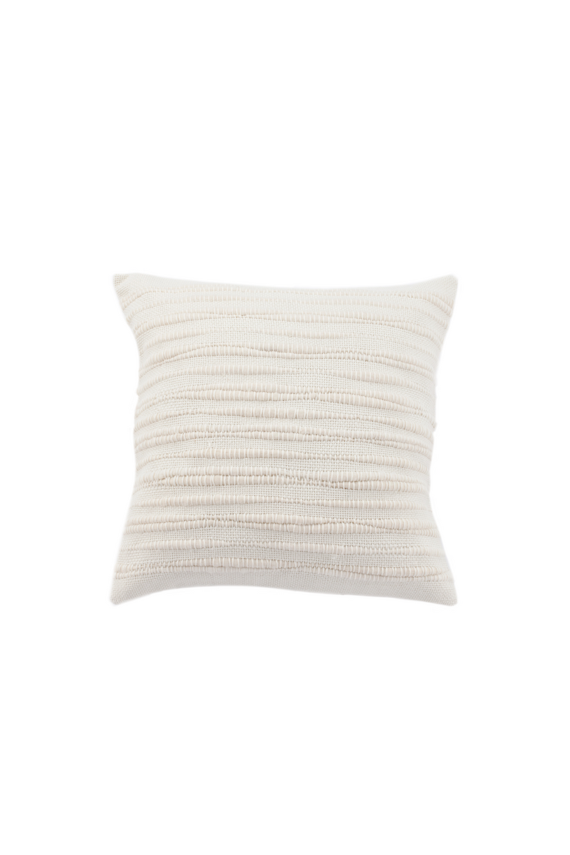 Nieve Handwoven Wool Pillow in Ivory by Sien + Co