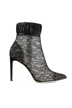 Black lace Maud booties by Chloe Gosselin