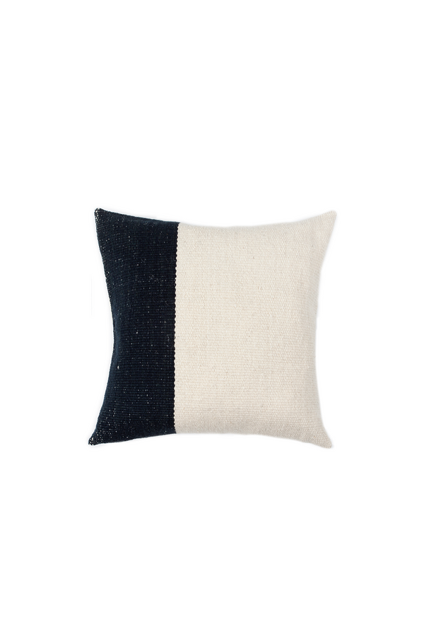 Pila Handwoven Pillow in Ivory and Black by Sien + Co