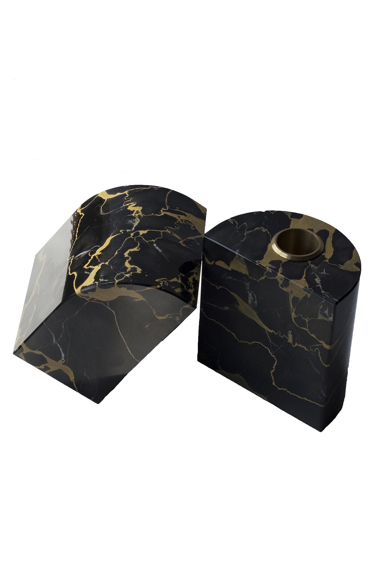 Marble Bookends in Black