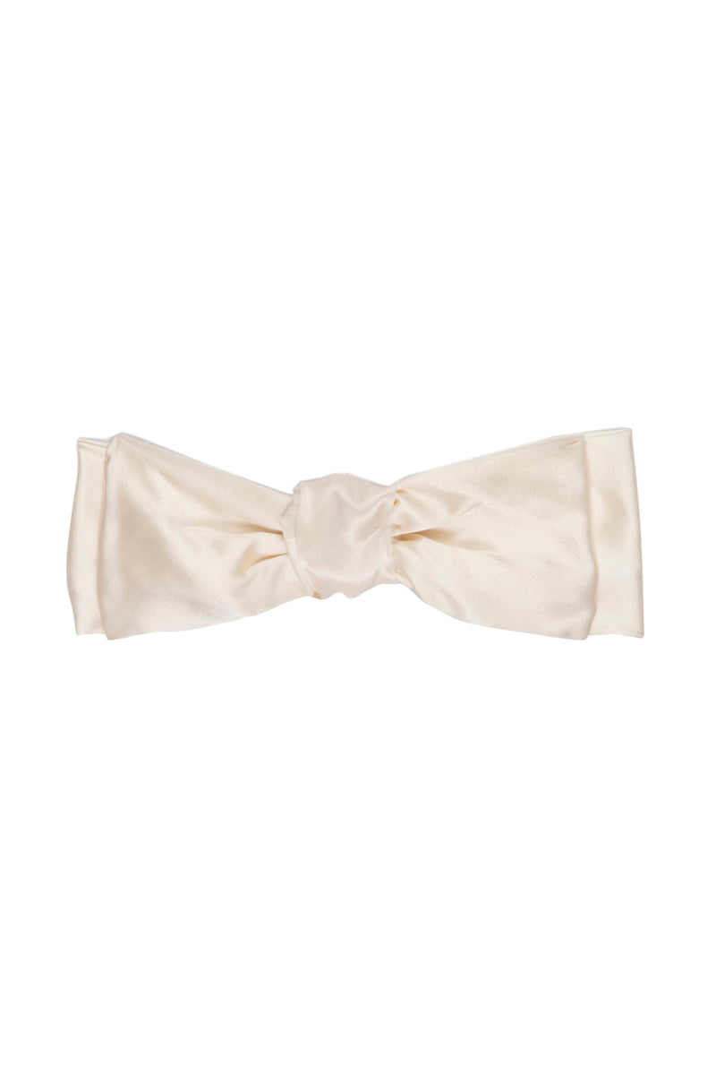 Cream Silk Lulu Barrette bow by DONNI