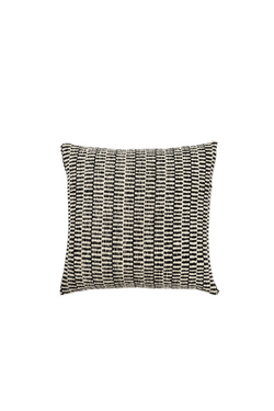 Surco Handwoven Pillow in Black and Ivory by Sien + Co