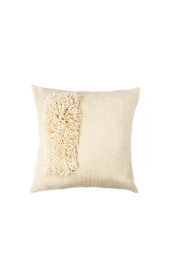 Zona Handwoven Pillow in Ivory by Sien + Co