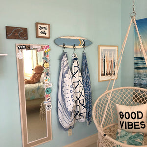 Beachy Bohemian Hippie Surf art hand painted by The Salty Life Co.
