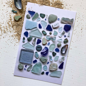 MINI PRINT- OCEAN TREASURE BLUES