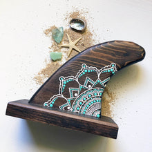 Load image into Gallery viewer, MANDALA WOOD SURF FIN- SEAFOAM BROWN