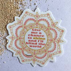 SHINE MANDALA STICKER