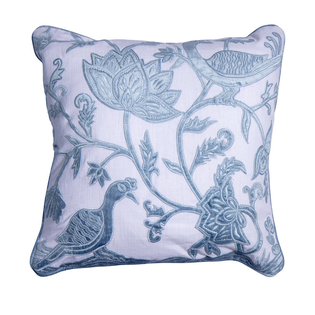 Chateau luxury velvet aviary pillow cover