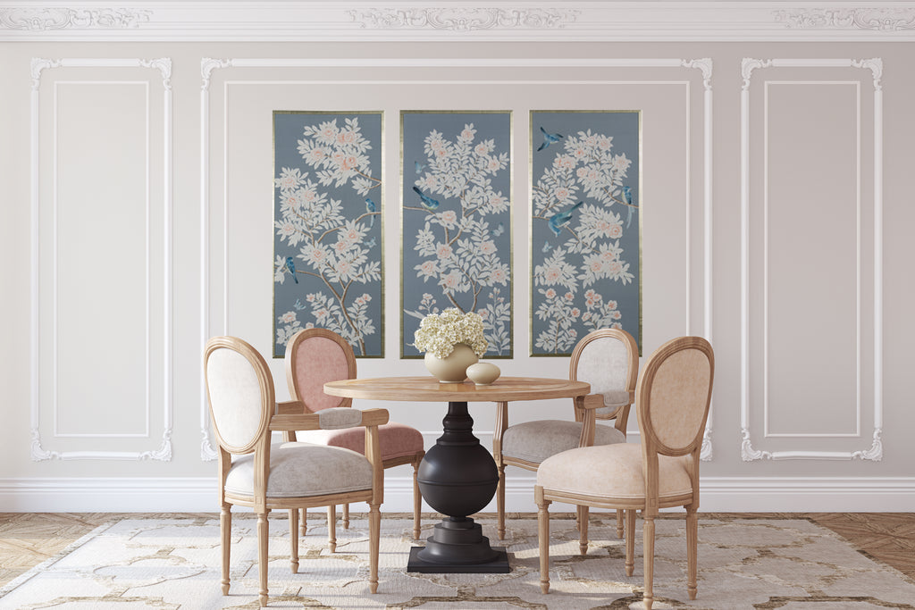 New Handpainted Framed Chinoiserie Panels (PRE SALE!)