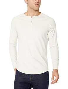 Slim-Fit Long-Sleeve Henley Shirt - FreshFitForGuys