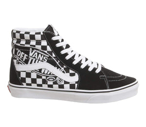 Vans Unisex Sk8-Hi Patch Black/True White Sneaker - FreshFitForGuys